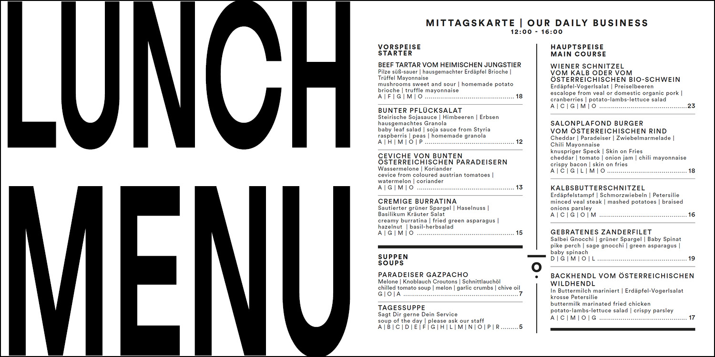 Lunch Menu from Salonplafond